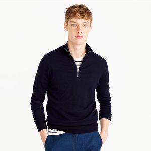 J.Crew lambswool sweater half-zip sweater jacket